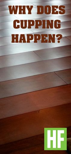Why do wood floors cup? What can you do about it?