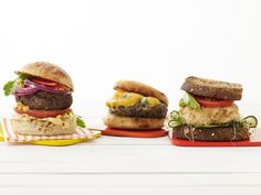Food Network Magazine pulls together 50 recipes for burgers, from a classic cheeseburger to salmon burgers, so keep the cook outs and barbecues coming all season long!