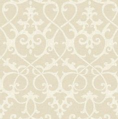 Axiom (21868) - Albany Wallpapers - A pretty all over damask design, finely drawn with heart shapes in cream on linen beige with a distressed fabric effect background. Available in other colours. Please request sample for true colour match.