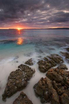 white sand at hyams beach, NSW, australia.