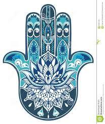 Vector Indian Hand Drawn Hamsa Symbol