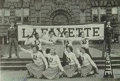 The 1942 cheerleaders in the yearbook of Lafayette high school, Buffalo, New York.  #1939 #Lafayette #Oracle #yearbook