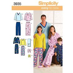 Buy Simplicity Nightwear Sewing Leaflet, 3935, A Online at johnlewis.com