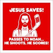 Even Jesus is a hockey fan