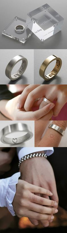 Engraved rings that imprint on your finger......awesome!