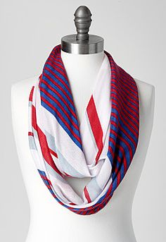 Kate Striped Oblong Scarf, 9-0036175168, Kate Striped Oblong Scarf Main View PGP