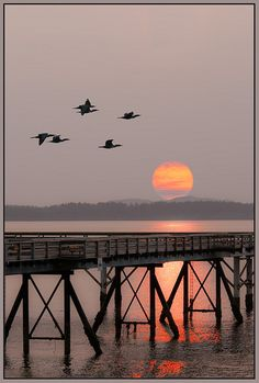Sunrise at Sidney-By-the-Sea, BC, Canada