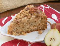 That Skinny Chick Can Bake - Pear Struesel Coffee Cake
