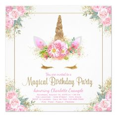 65 best 15th birthday party invitations images on pinterest in 2018 unicorn birthday party invitations unicorn face filmwisefo