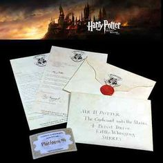 Harry potter hogwarts acceptance #letter + #express train #ticket 9 3/4 platform ,  View more on the LINK: 	http://www.zeppy.io/product/gb/2/381900018521/