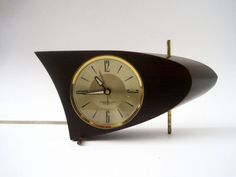 Mid Century Atomic Space Age Modern Westclox Clock and Alarm