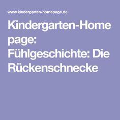 Kindergarten-Homepage: Fühlgeschichte: Die Rückenschnecke