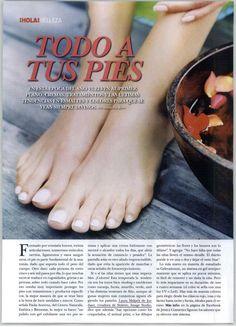 Revista ¡Hola!   Tendencias en esmaltes y diseños para uñas de los pies.   (Noviembre de 2012)