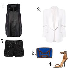 LE CATCH: sparkly shorts  all saints shorts, givenchy heels and pierre hardy bag