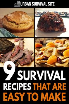 Here are some survival recipes that are nutritious, easy to make, and have a long shelf life. Hardtack, pemmican, jerky, bitlong, bannock, peasant bread, and more.