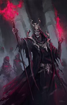 Necromancer – fantasy character concept by Daniel Comerci
