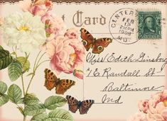 Vintage Labels, Vintage Ephemera, Vintage Postcards, Decoupage Vintage, Decoupage Paper, Vintage Pictures, Vintage Images, Free Graphics, Illustrations