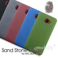 Sand Stone Series #Anti-Fingerprint PC Case for #HTC Butterfly S #901e [PCAF-HTCBUTS] - $15.00