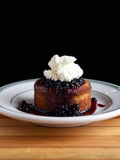 Chucky Dugo's Recipe for Hazelnut-Ricotta Cake with Huckleberries - San Francisco - Restaurants and Dining - SFoodie.  Yum!