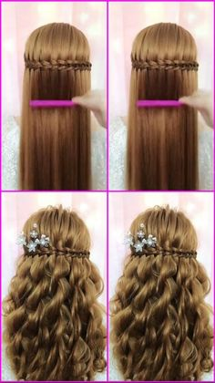 Headband Hairstyles, Cute Hairstyles, Braided Hairstyles, Wedding Hairstyles, Frozen Hairstyles, Quinceanera Hairstyles, Updo Hairstyle, Easy Updos For Long Hair, Braids For Long Hair