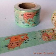 Washi Tape Mapa mundi10