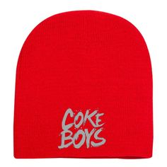 Coke Boys Embroidered Knit Beanie Custom Hats d4626748609f