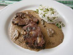 Kančí maso na hříbkách,z pomalého hrnce - Naše Dobroty na každý den Steak, Food, Essen, Steaks, Meals, Yemek, Eten