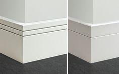 more spanish :P Baseboard Styles, Baseboard Molding, Base Moulding, Interior Trim, Home Interior Design, Architrave Door, Door Design, House Design, Modern Baseboards