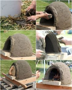 Four à pizza bois : Build a Simple Earth Bread Pizza Oven Build a Simple Earth Bread Pizza Oven - A Piece Of Rainbow Sharing is caring, don't forget to Wood Fired Oven, Wood Fired Pizza, Pizza Oven Outdoor, Outdoor Cooking, Stone Pizza Oven, Bread Oven, Bread Pizza, Oven Diy, Four A Pizza
