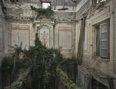 Moss and greenery starts to grow on the inside of an abandoned villa in Italy Photo credit: Rebecca Bathory