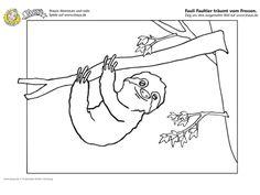 #Ausmalbild : Fauli das Faultier träumt vom Fressen! #coloring #kids #printable