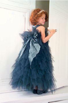 vestidos de ceremonia para niña azules