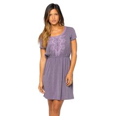 The prAna Bess Dress is a compilation of subtle details that create a unique and flattering style. An interior drawcord at the waist both creates a flattering silhouette and is accented with metal beads. A blend of soft fabric has enough give for comfort and is embroidered with care.