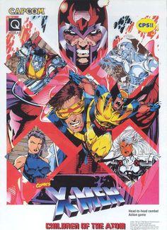 """joearlikelikescomics: """" Box art for X-Men Children of the Atom game by Jim Lee """" Marvel Comics Art, Marvel X, Marvel Heroes, Marvel Characters, Comic Book Covers, Comic Book Heroes, Comic Books Art, Comic Art, X Men"""