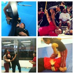 Some action shots of us training :)