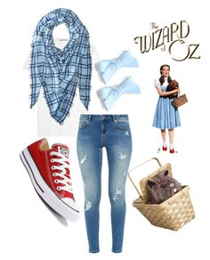 """Modern DYI Dorothy costume"" by ichelle-montoya on Polyvore featuring Helmut Lang, Calvin Klein, Ted Baker, Converse and modern"