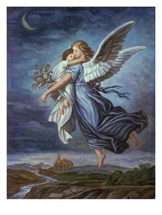 The Guardian Angel by Wilhelm Von Kaulbach
