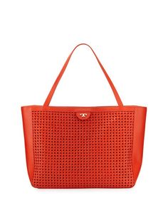 Romi woven leather tote bag