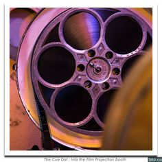 "The Cue Dot • Reel of 35mm Film (Purple) • 8x8"" (Signed)"