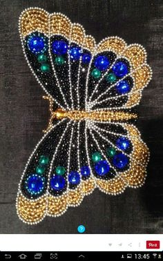 Embroidery butterfly pattern art 55 new ideas Beaded Crafts, Beaded Ornaments, Jewelry Crafts, Diy Crafts, Beading Projects, Beading Tutorials, Beading Patterns, Bead Embroidery Jewelry, Beaded Embroidery
