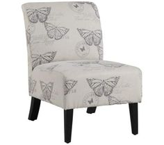 Lily Butterfly Linen Accent Chair   55DowningStreet.com