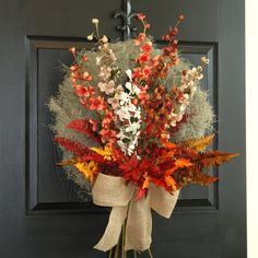 summer wreath for door wreath fall, autumn wreath delphinium front door year round wreath decorations, gift ideas    FREE SHIPPING   This beautiful