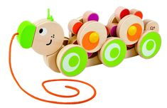 Hape International Walk-A-Long Caterpillar Toy (Multi-Colour) Nachziehspielzeug Adventskalender Baby Wooden Puzzles, Wooden Toys, Holiday Gift Guide, Holiday Gifts, Caterpillar Toys, Hape Toys, Pull Along Toys, Toy Puppies, Pull Toy