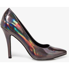 FOREVER 21 Pointed Hologram Pumps ($25) ❤ liked on Polyvore