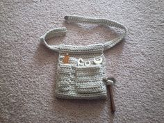 Our youngest son has been playing with all of his tools recently. He used to have a tool belt (his Grandpa bought it with the tools in it),. Crochet Belt, Crochet Purses, Free Crochet, Crochet For Boys, Knitting For Kids, Boy Crochet, Crochet Children, Crochet Tools, Crochet Gifts