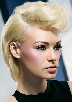 easy medium punk hairstyles for girls with blonde thin hair#prom