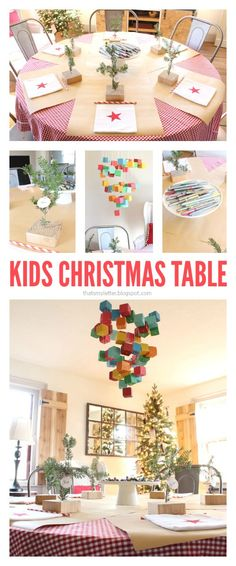 "That's My Letter: ""C"" is for Christmas Table, kids christmas table"