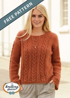 Autumn Trails Knitted Sweater Create this simply chic and versatile knitted swing sweater to add to your fall capsule wardrobe. This elegant yet laid-. Jumper Patterns, Sweater Knitting Patterns, Knitting Designs, Jumpers For Women, Sweaters For Women, Free Knitting Patterns For Women, Sewing Patterns, Jacket Pattern, Pulls