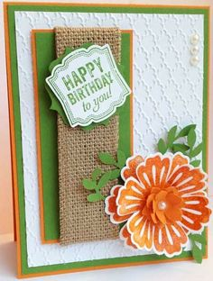 Handmade Birthday Cards, Happy Birthday Cards, Hand Made Greeting Cards, Scrapbook Cards, Scrapbooking, Love Cards, Creative Cards, Homemade Cards, Stampin Up Cards