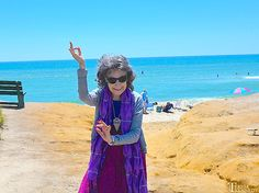 95-year-old yoga master Tao Porchon-Lynch in Nantucket, July 2014